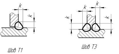 Основные тавровые соединения