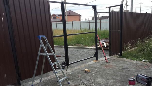 Обшивка ворот картинка