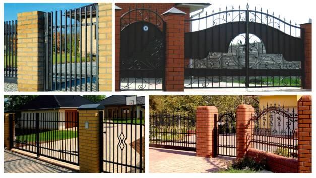 Сварные ворота изображение